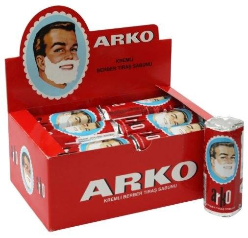 ARKO shaving soap sticks hairdressing cream foam foam safety razor shaving brush white easy casual 75 w x 12 pcs