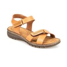 FLO Camel Women 'S Sandals Women Summer Sandals Slip-on Flat Ladies Sandals Comfy Wedge Female Shoes Fashion Breathable Girls Sandals Polaris 91. 150768.Z
