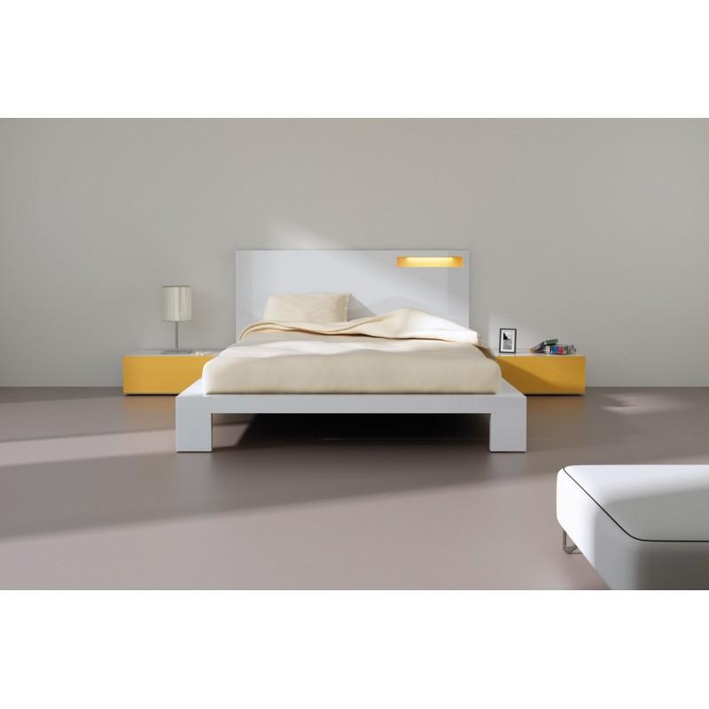 Cabeceira moderna para cama de casal, brilho lacado