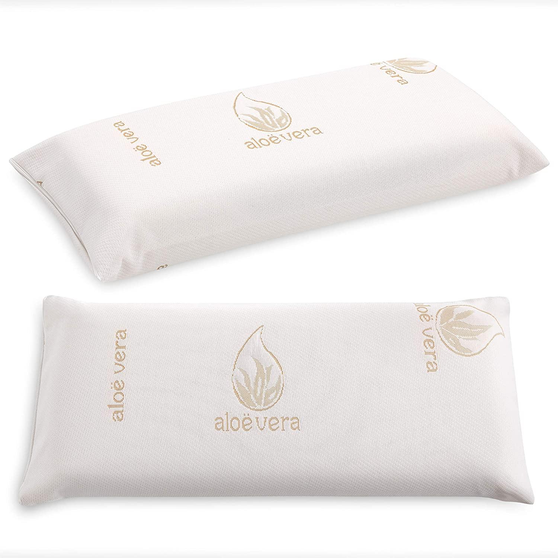 -Aloe Vera-Visco pillow-anatomical Anti-mite orthopedic elastic made in Spain type wedge reading
