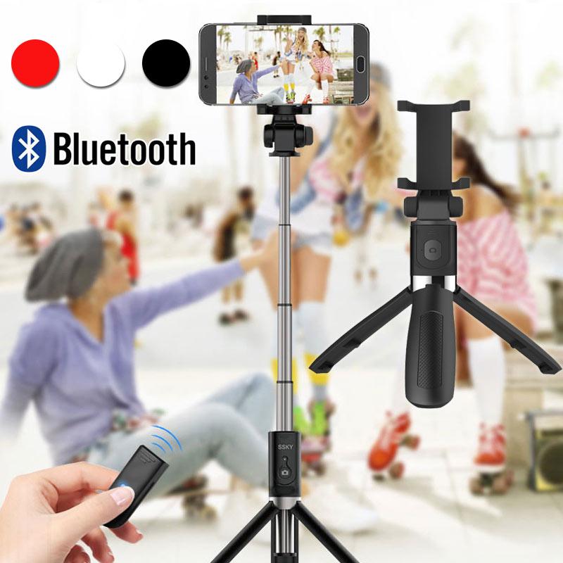 Tripé com Controle Suporte do Telefone Extensível para Android Universal Bluetooth Selfie Vara Remoto Portátil Dobrável 70cm Apple Ios