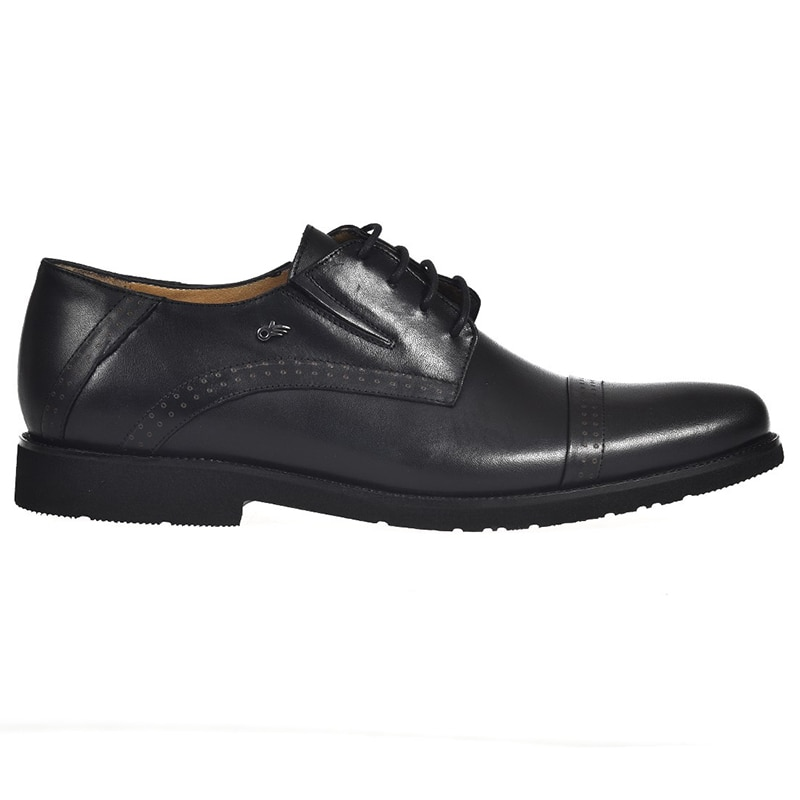 Men's Casual Shoes Genuine Leather Comfort Black Color Inside Out Leather Orthopedic Insole Normal Mold Suitable for Foot Anatomy Lace-Up Classic Shoes Fashion Business Suit Wedding Event 021402