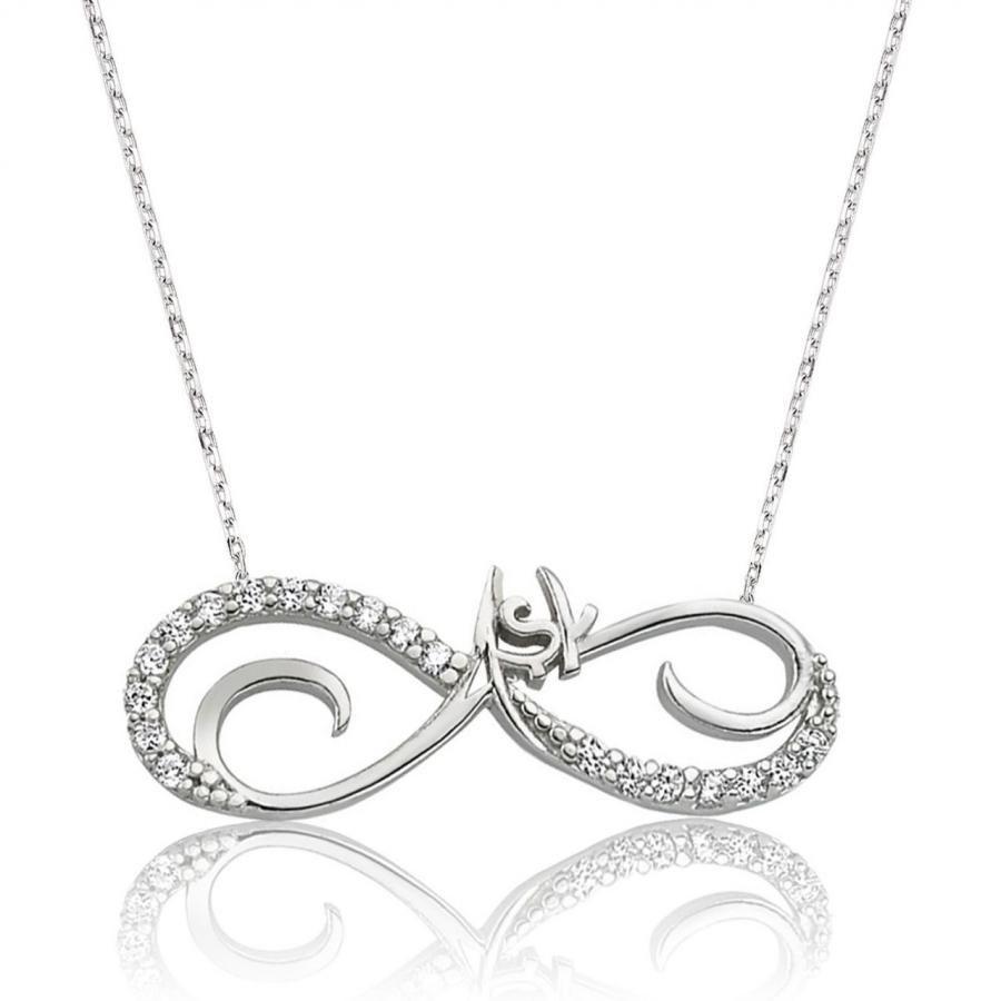 قلادات فضية من الفضة الإسترليني عيار 925 مرصعة بالزركونيا والأحجار الكريمة ، للنساء