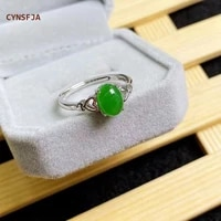 cynsfja new real rare certified natural hetian jasper womens rings 925 silver luck amulet nephrite green jade ring fine jewelry