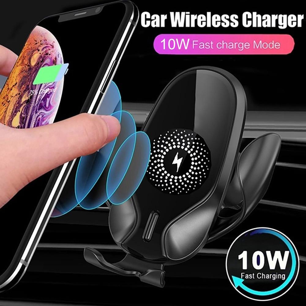 Carregador sem Fio para Iphone Suporte do Telefone Suporte do Carro Universal Max Samsung Note10 9 8 7 6 5 Móvel Inteligente 11 – Pro