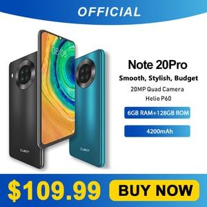 Cubot Note 20 Pro Quad Camera смартфон Четыре камера 6/8 Гб RAM+128ГБ ROM NFC телефон 6,5 дюйма 4200 мАч Батарея новая Android 10 система две sim-карты мобильные телефоны 4G ...