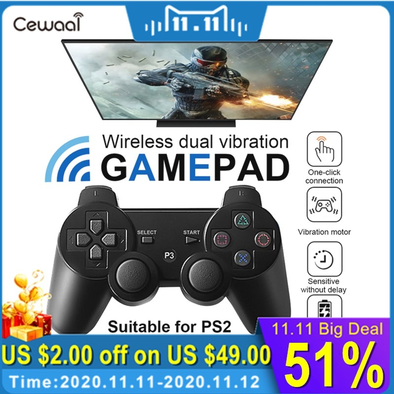 For SONY PS3 Controller Bluetooth Wireless Gamepad for Play Station 3 Joystick Console for Dualshock 3 Controle For PC support bluetooth wireless controller for sony ps3 gamepad for ps3 console joystick for sony playstation 3 pc for dualshock