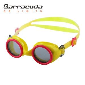 Barracuda детские плавательные очки Анти-туман УФ-защита удобные без протекания возраст 2-6 #91355 желтый