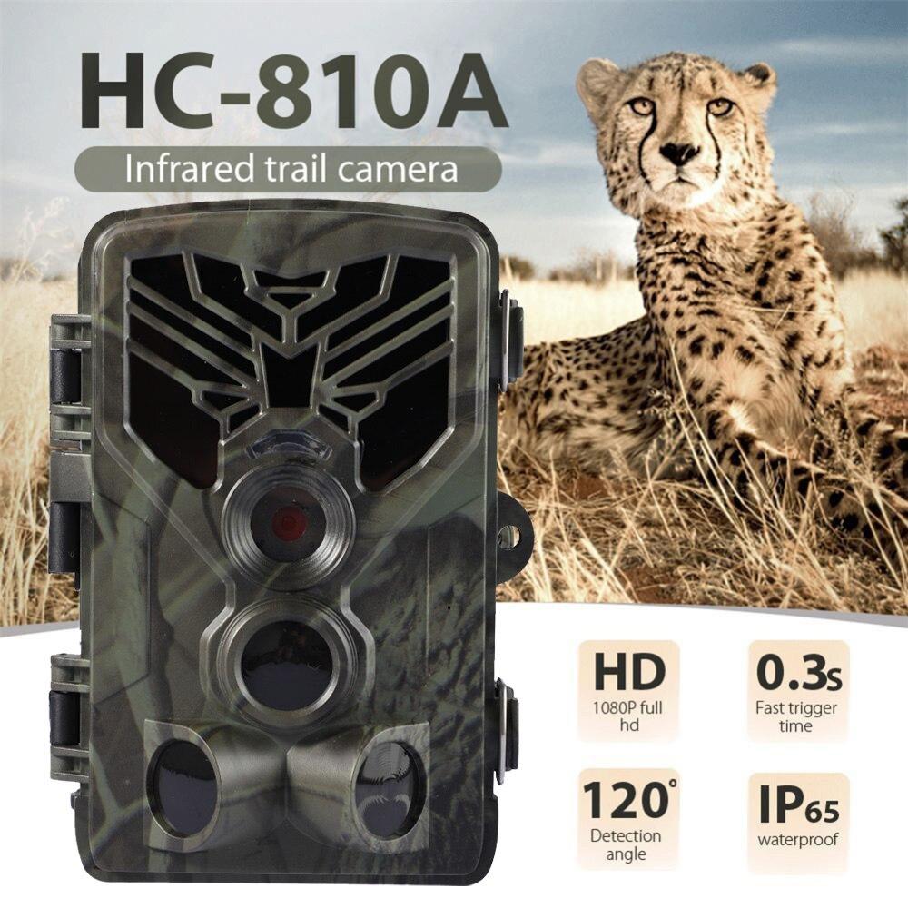 HC-810A 1080P 20MP HD Hunting Wildlife Camera Scouting Trail Camera Wildview 3 PIR Motion Night Vision Camera Home Safe Game Cam недорого