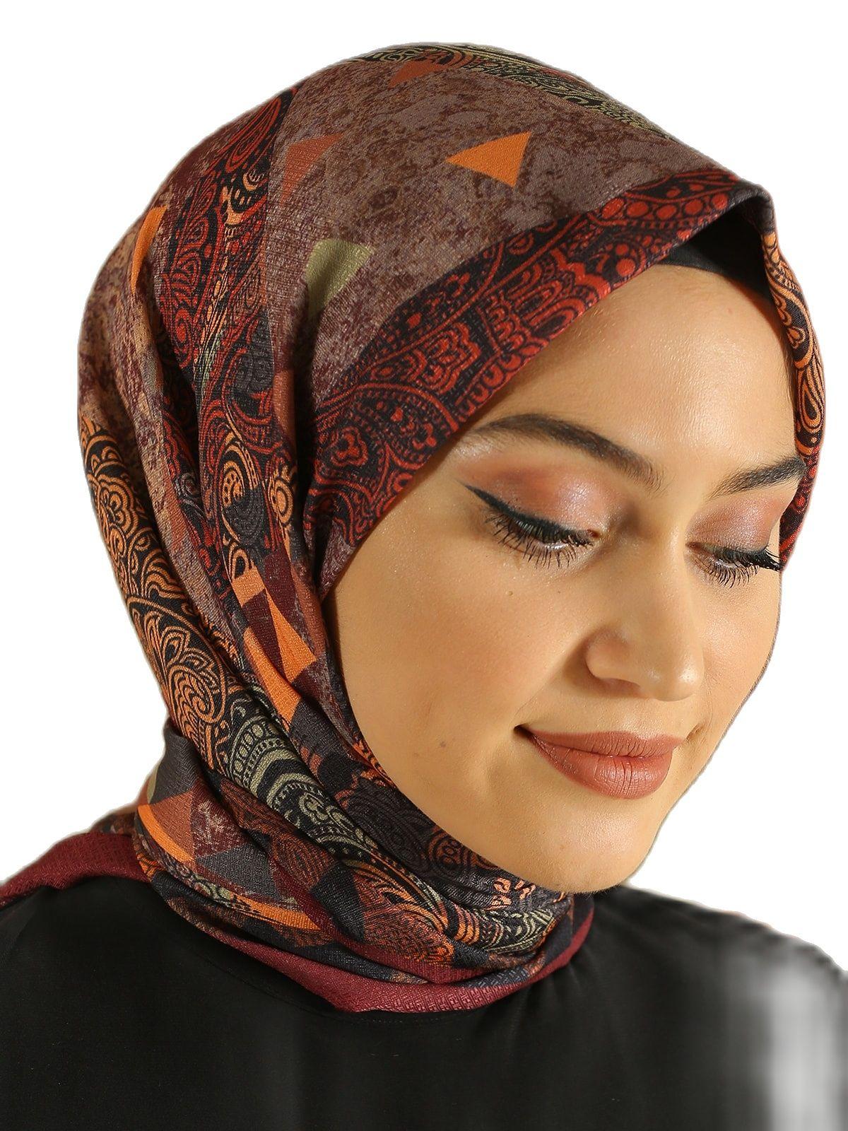 2021 Для женщин цвет: пурпурно-красный с рисунком хлопковый шарф марли İslam хиджаб Femme Musulman платок на голову качество Абаи Дубай, Турция