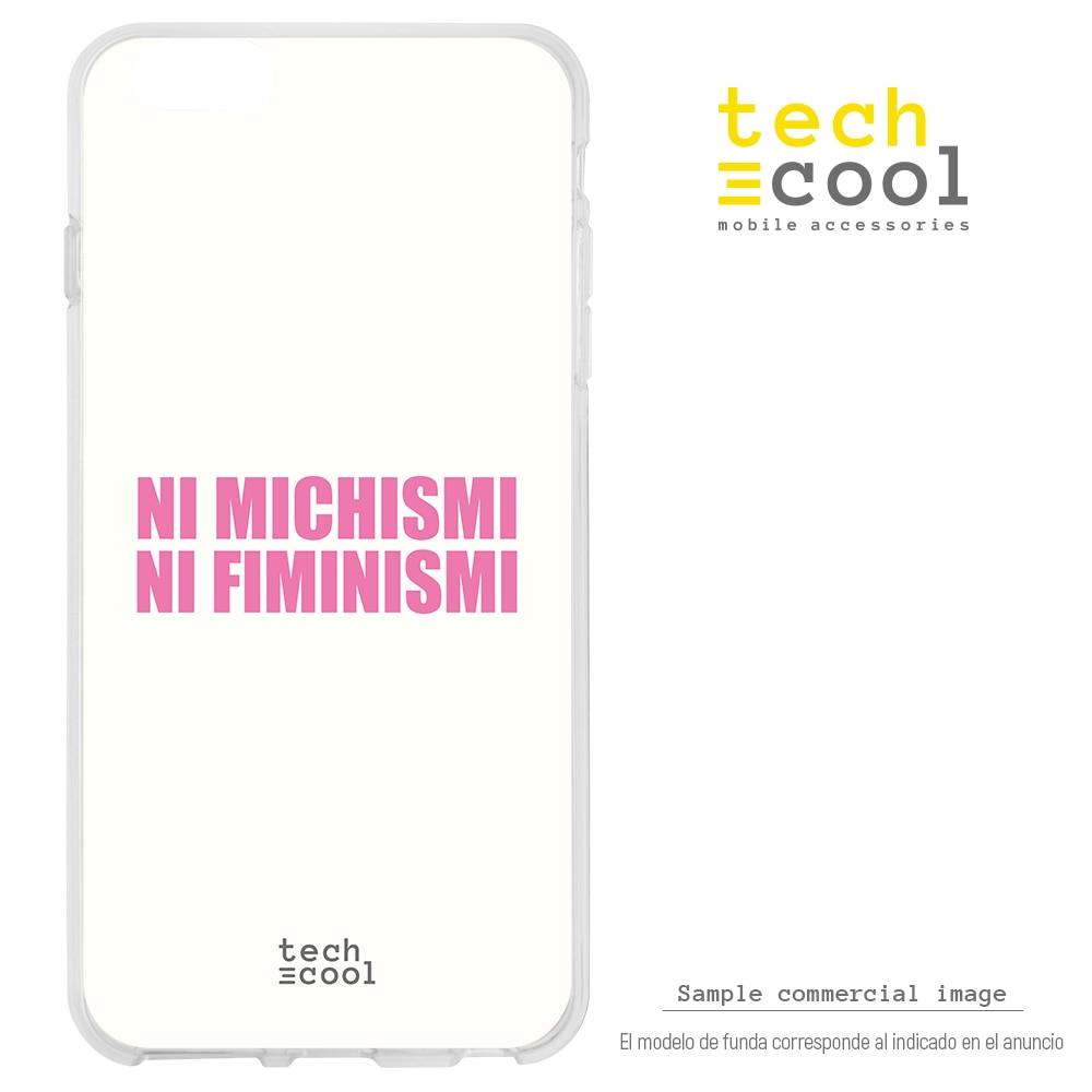 FunnyTech® Funda Silicona para Oneplus 7 l Feminismo machismo humor Blanco