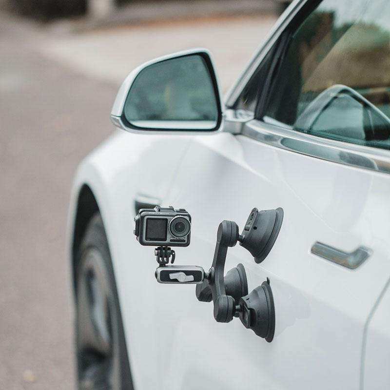 PGYTECH الثلاثي كوب ثلاثة الذراع كاميرا شفط جبل حامل سيارة نافذة جبل ل Gopro بطل 9 Insta360 واحد X2 جيب 2 Gimbal