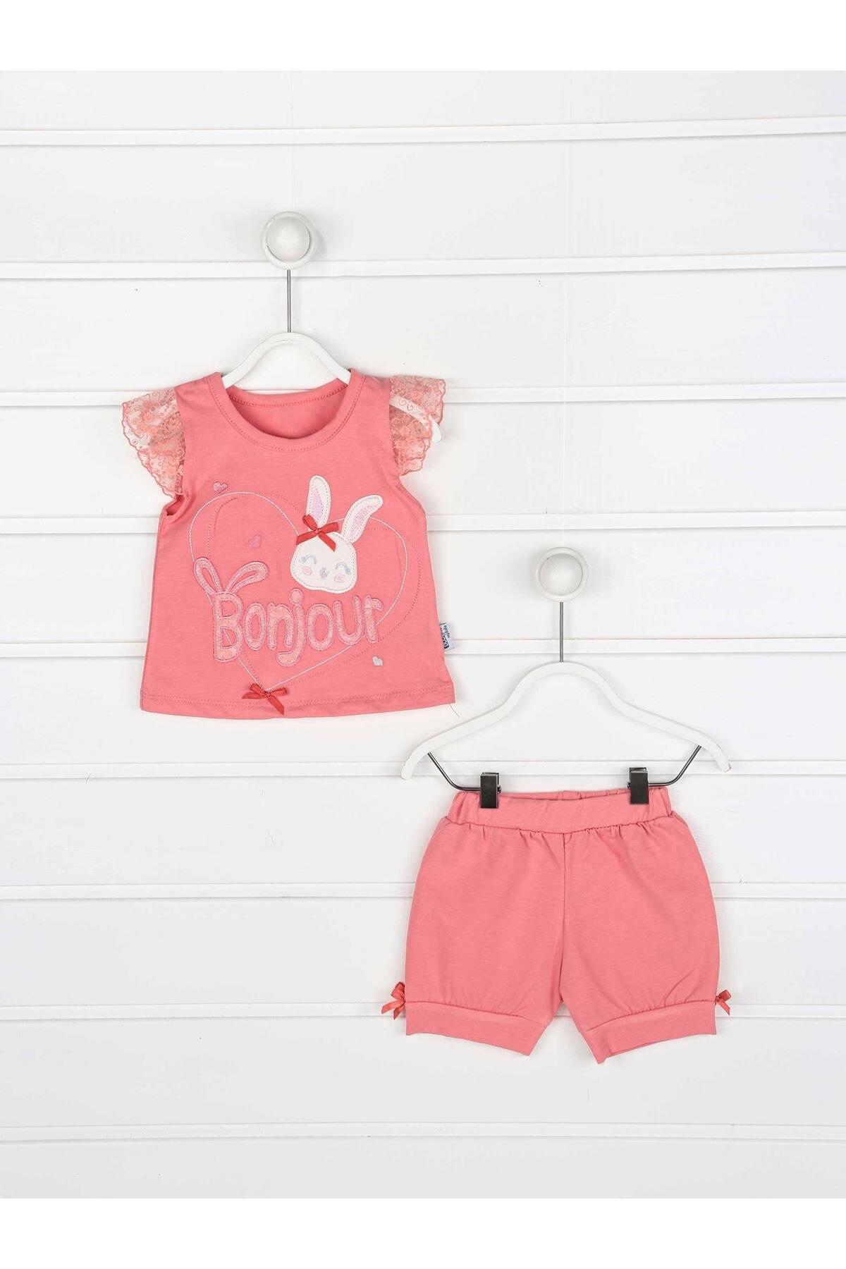 Grenadine Rot Mädchen Baby Shorts Anzug