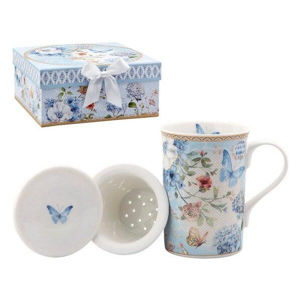 Taza con filtro de té 116229 mariposa azul