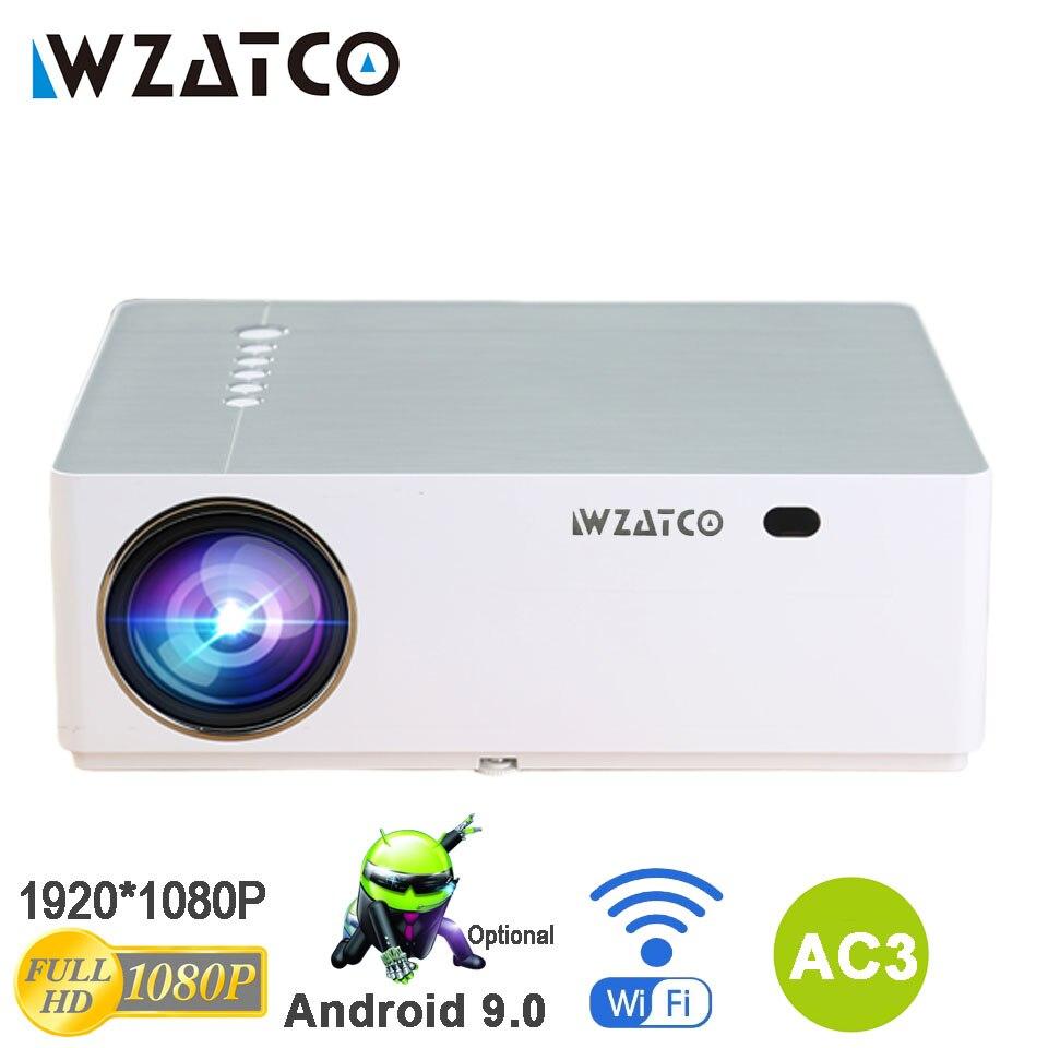 WZATCO M20 Full HD 1080P проектор 4D Keystone Android 9,0 WIFI для смартфона видео 4K Proyector 200 дюймов домашний кинотеатр T26K M19