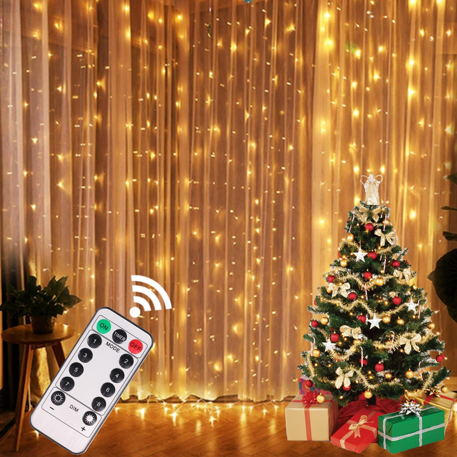USB Festoon String Light Fairy Garland Curtain Light Christmas Light Christmas Decor For Home Holiday Decorative New Year Lamp