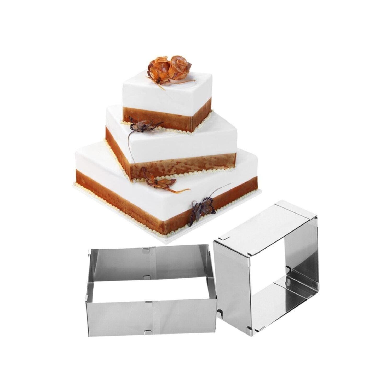 Cake Mousse Mold Cake Baking, Adjustable Square Cake Ring Mold Cake Decor Mold Ring For Baking Kitchen