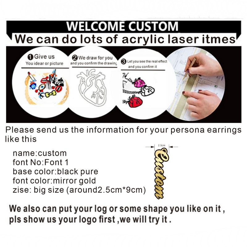 Personalized Name acrylic Letter Stud Earrings For Women Fashion Custom Name Piercing Earrings Nameplate