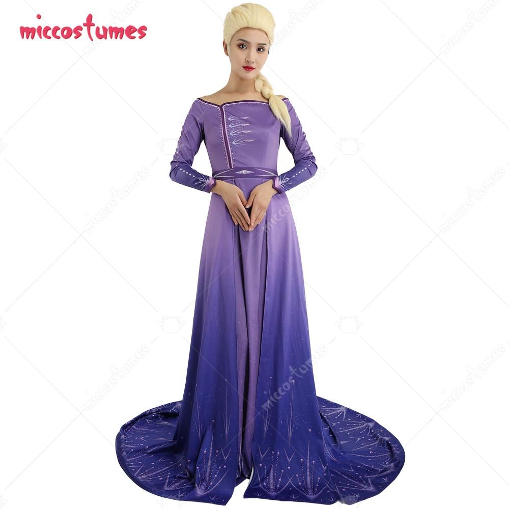 إلسا تأثيري حلي فستان بنفسجي قبالة الكتف رداء ثوب