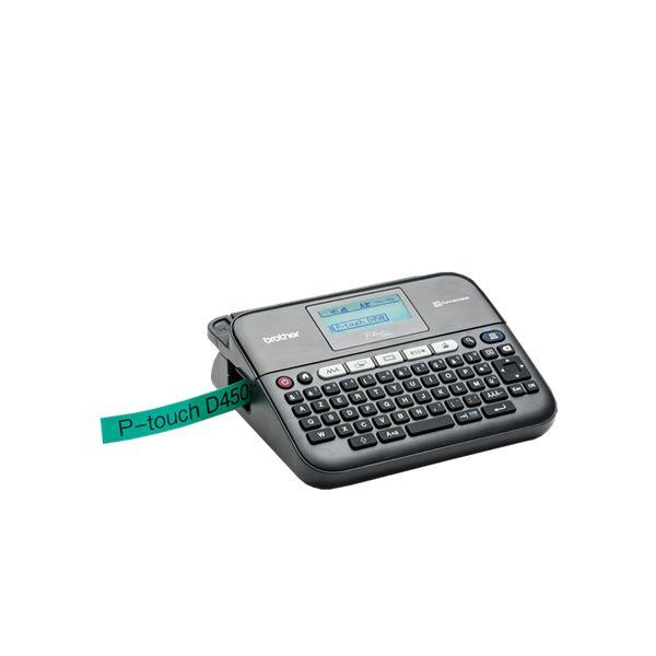 Etiquetadora electrónica con teclado y conexión de PC Brother FIMITE0159 PTD450VPUR1 Qwerty (65) LED 6 x AA (LR6/HR6)