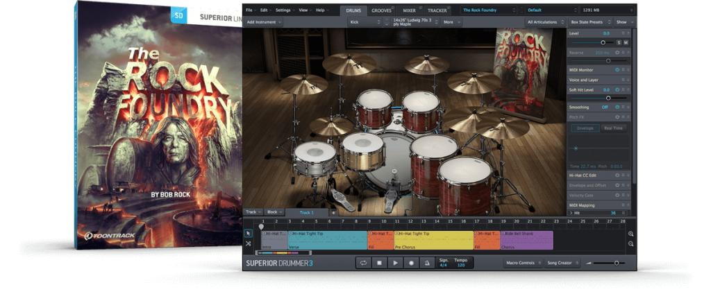 THE ROCK FOUNDRY - TOONTRACK SUPERIOR DRUMMER 3 EXPANSION (WINDOWS 64BIT VSTi)