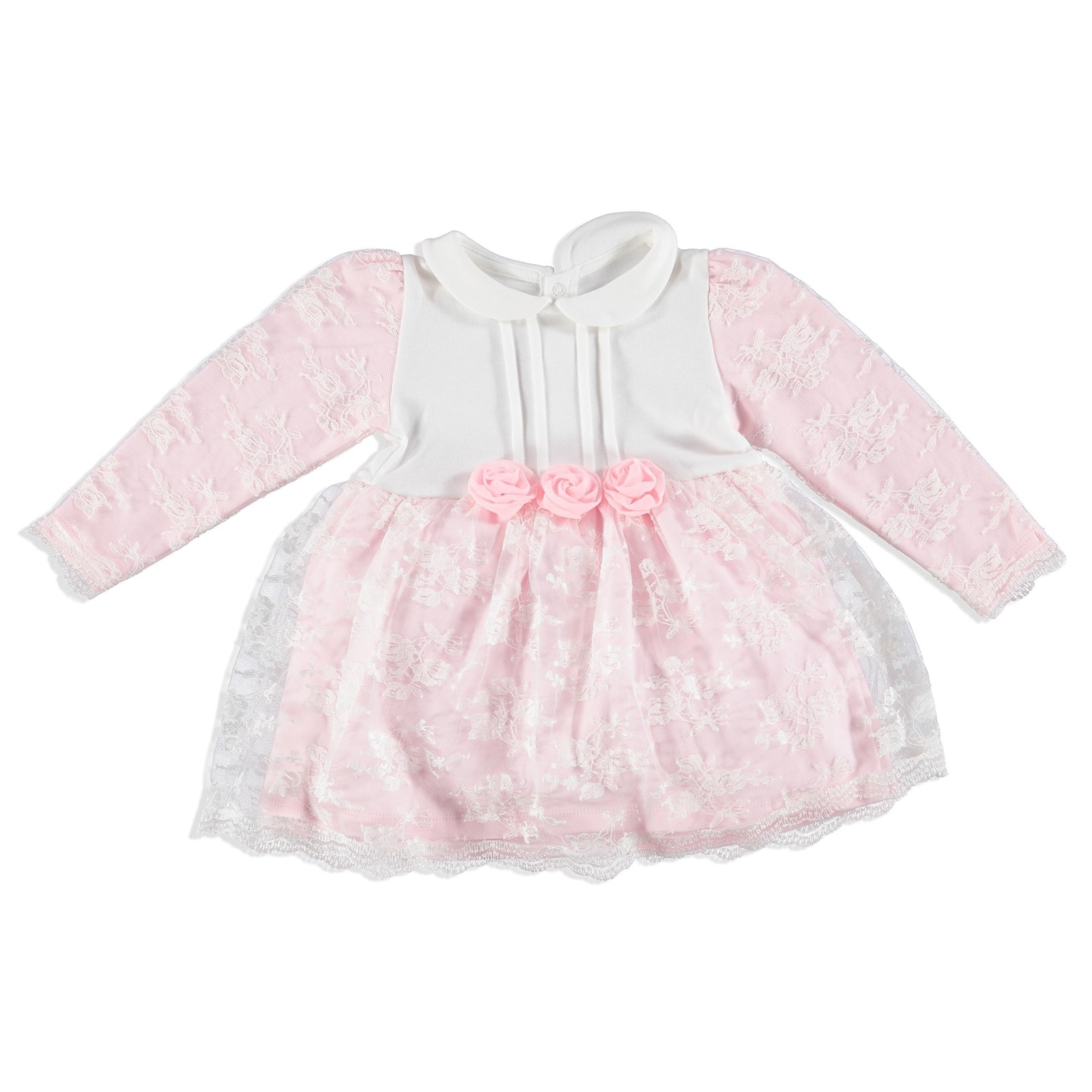 ebebek Mymio Baby Flower Interlock Petter Pan Collar Dress