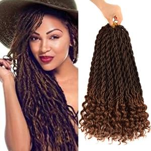Aidaiya богиня Locs вязание крючком, на крючках, накладные волосы, синтетика, плетение, косички, пряди волос, на крючках, косички для Для женщин 24 пряди 18 дюймов Красота