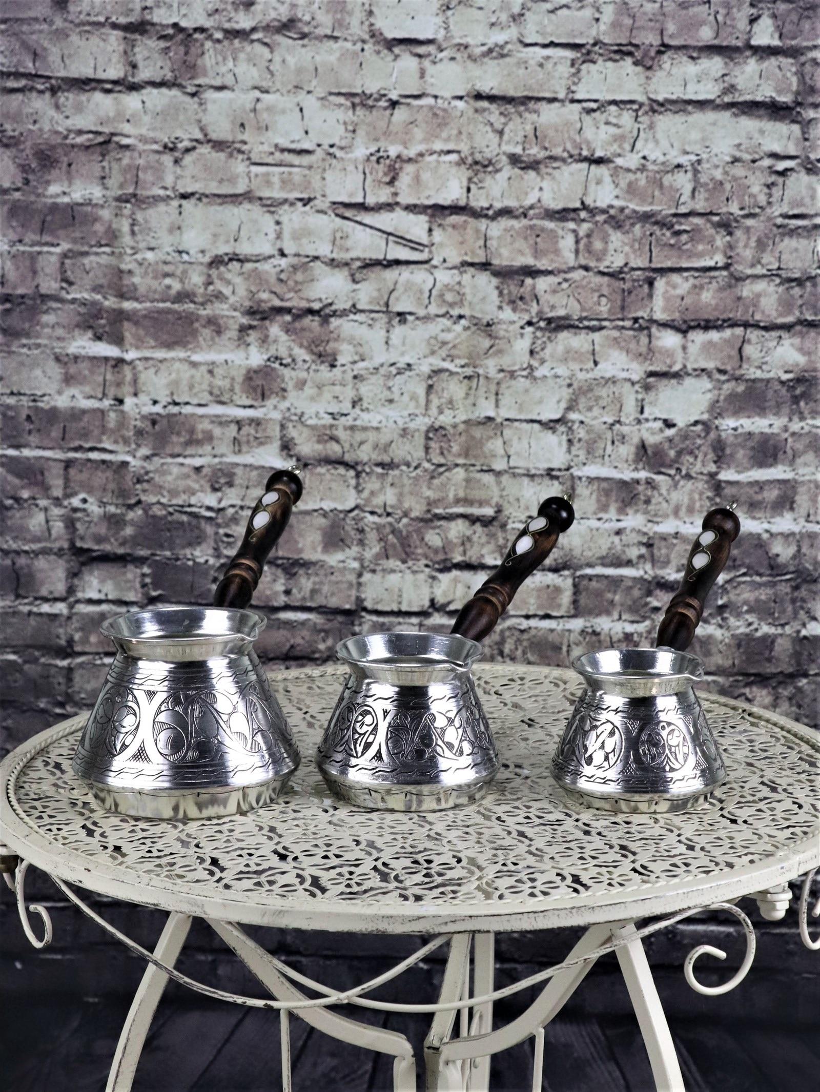 إبريق قهوة تركيا النحاس محفورة مقبض خشبي إبريق قهوة كبيرة اليدوية أصيلة التركية القهوة اسبريسو وعاء لتقديم القهوة العربي