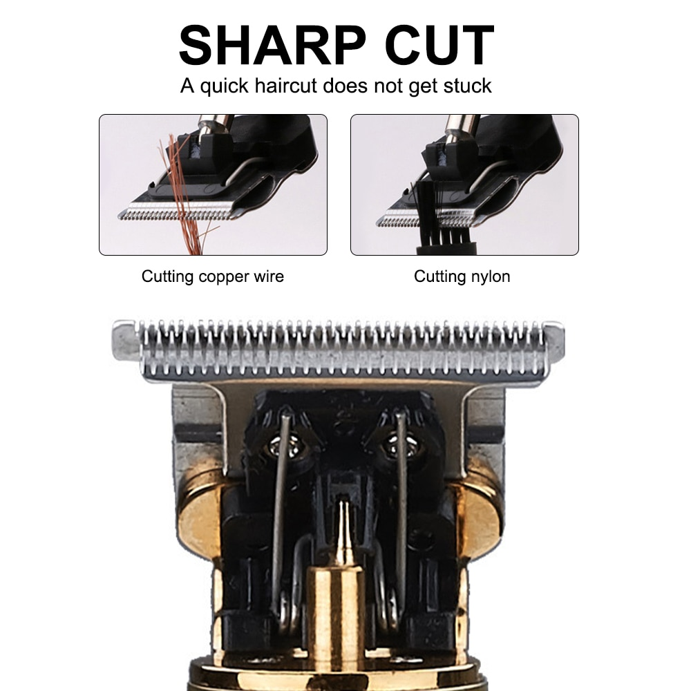 T9 Electric LCD Hair Clipper Rechargeable Shaver Barber Professional Hair Trimmer Cordless Men Beard Hair Cutting Machine Mower enlarge