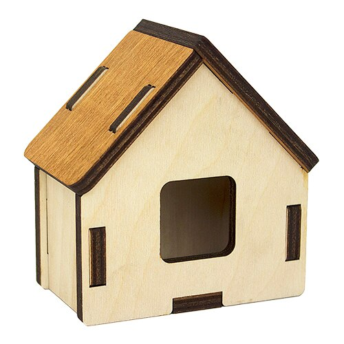 L-940 pieza de trabajo de madera 3d-puzzle madera. Casa 10*6*10 cm