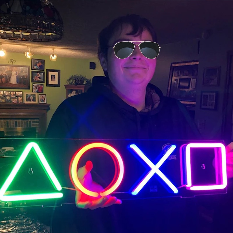 PlayStation Sign Game Console Neon Light Lamp Sign for Gamer Living room LED Neon Sign Room Decor Wall Decor Birthday Gift