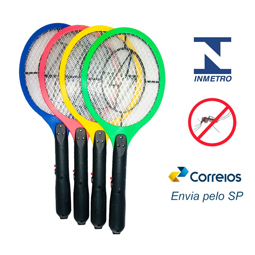 frete gratis Raquete Elétrica Mata Mosquito Dengue Insetos Recarregável 110/220 Bivolt 1pc