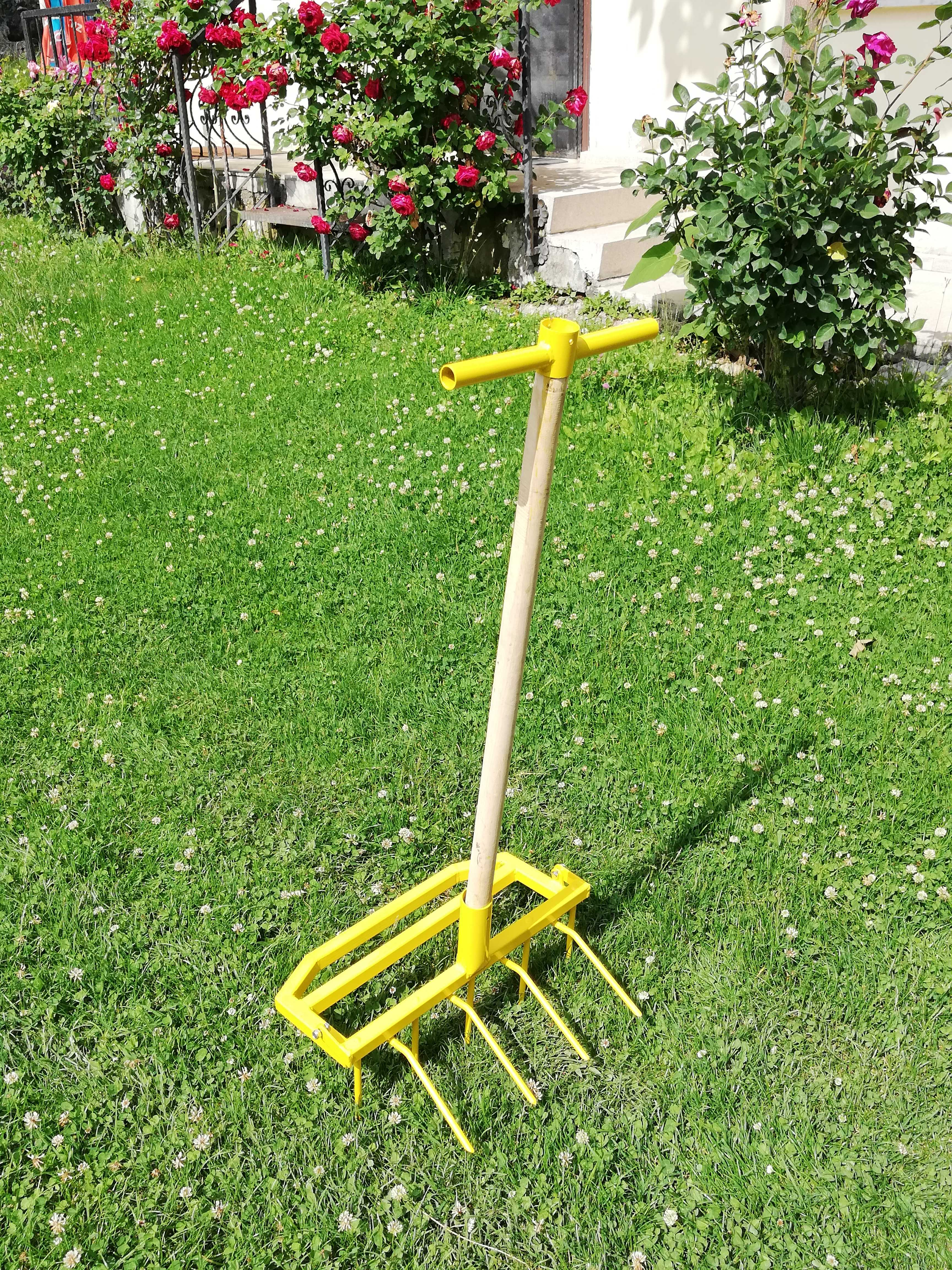 GARDEN DIGGING AND PURGE STAINLESS STEEL EASY TO USE HIGH PERFORMANCE DURABLE GARDEN TOOL FOR VEGETABLE AND FRUIT GROWERS