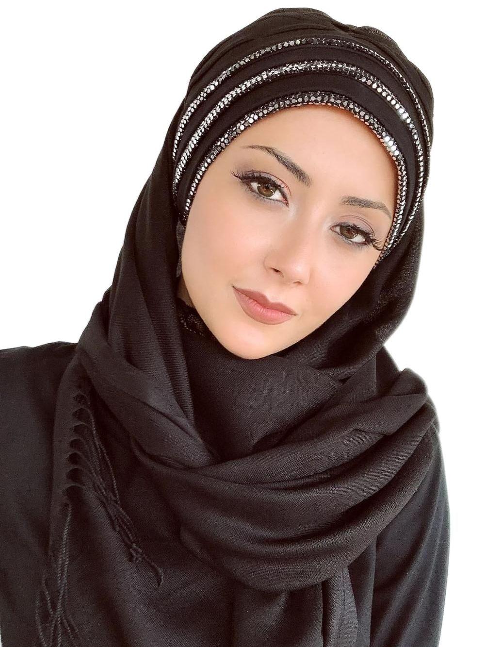 Yeni Moda-حجاب ، 2021 ، kadеn Müslüman ، baashourtüsجيلو إيسلامي كيليافت t0.rban سيابكا فولar esharp Bone atkeh siya Renk ramieli r schal