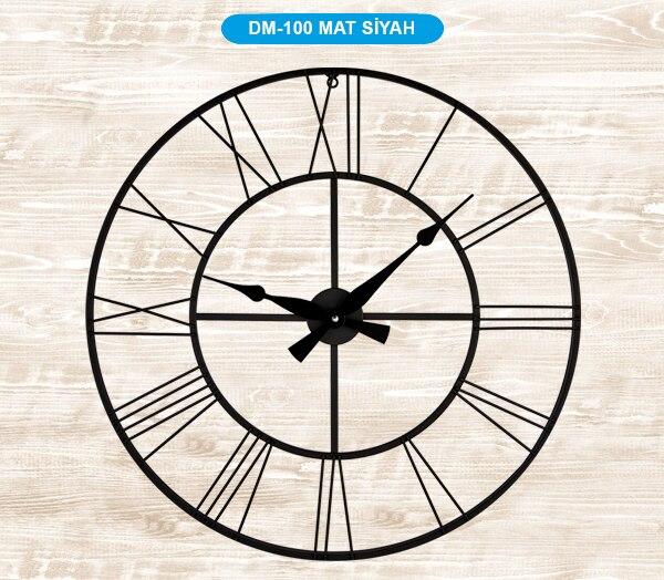 Galaxy DM-100 металлический корпус настенные часы 70 см матовый черный