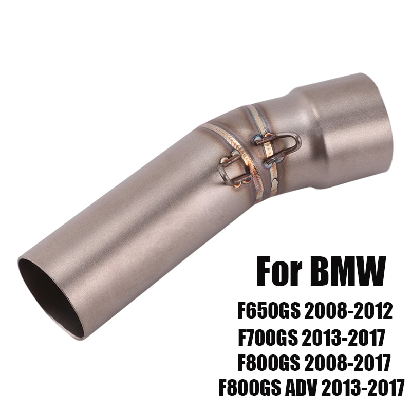 For BMW F650GS F700GS F800GS F800GS ADV 2013-2017 Exhaust System Mid Link Pipe Connecting Section Tube Slip On Motorcycle