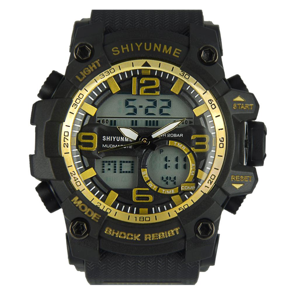 SHIYUNME Multifunctional Fashion Outdoor Sports Electronic Watch Luminous LED Display Calendar Alarm Watches For Man Women часы