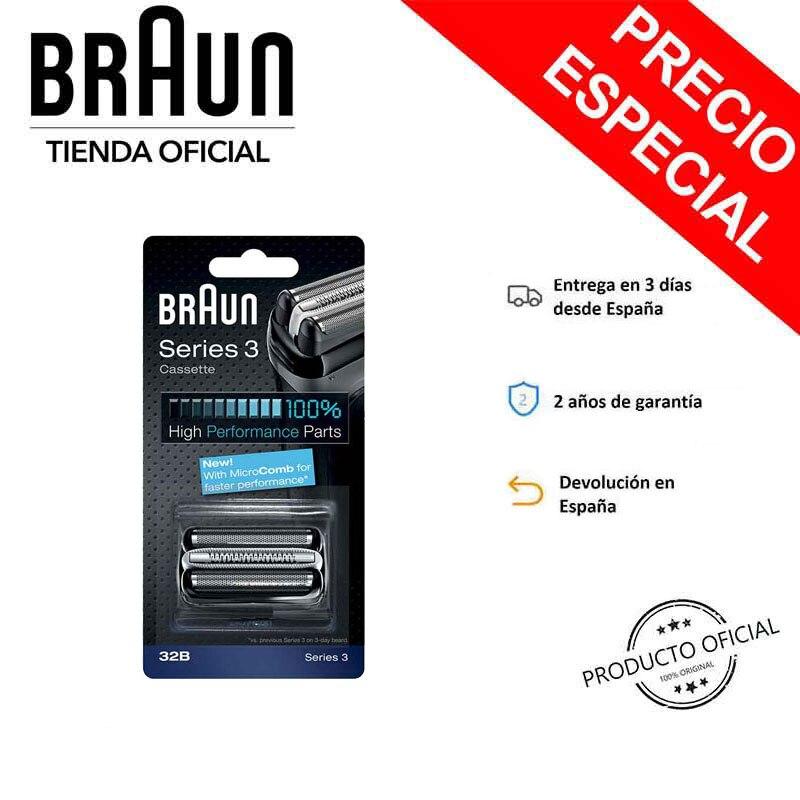 Braun 32b, 30b, 21b, 31 s cabeça de barbear elétrico para homem-braun series 3 (novo)
