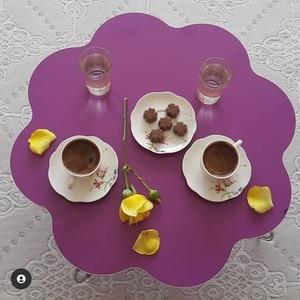 Turkish Coffee Child Game Table Furnitur Folding Metal Leg Modern-traditional Furniture İslamic Floor Dining Table Traditional