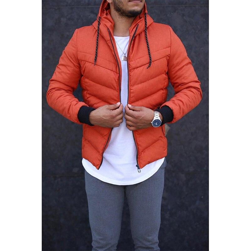 2021 Zipper Men Jackets Autumn Winter Casual Fleece Coats Bomber  Jacket Scarf Collar Fashion Hooded Male Outwear Slim Fit Hoody Parka Trench sweater