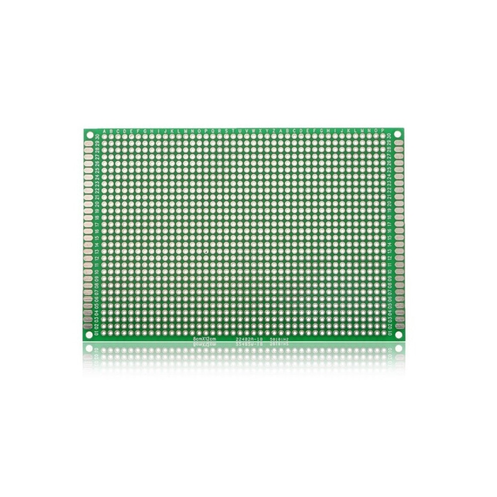 Taidacent 10Pc Double Sided Circuit Board 8x12cm Fr4 Printed Circuit Board Universal Experiment Board Soldering Electronic Board недорого