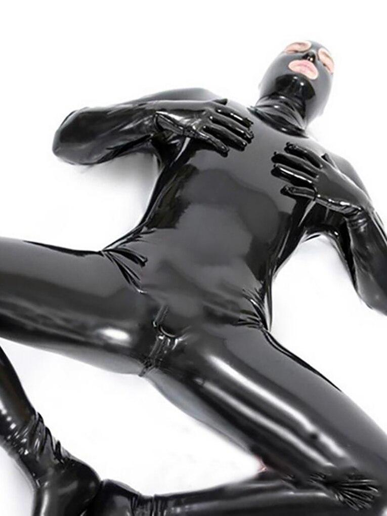 LinMe унисекс футгард из искусственной кожи ПВХ блестящая Клубная одежда с крючком