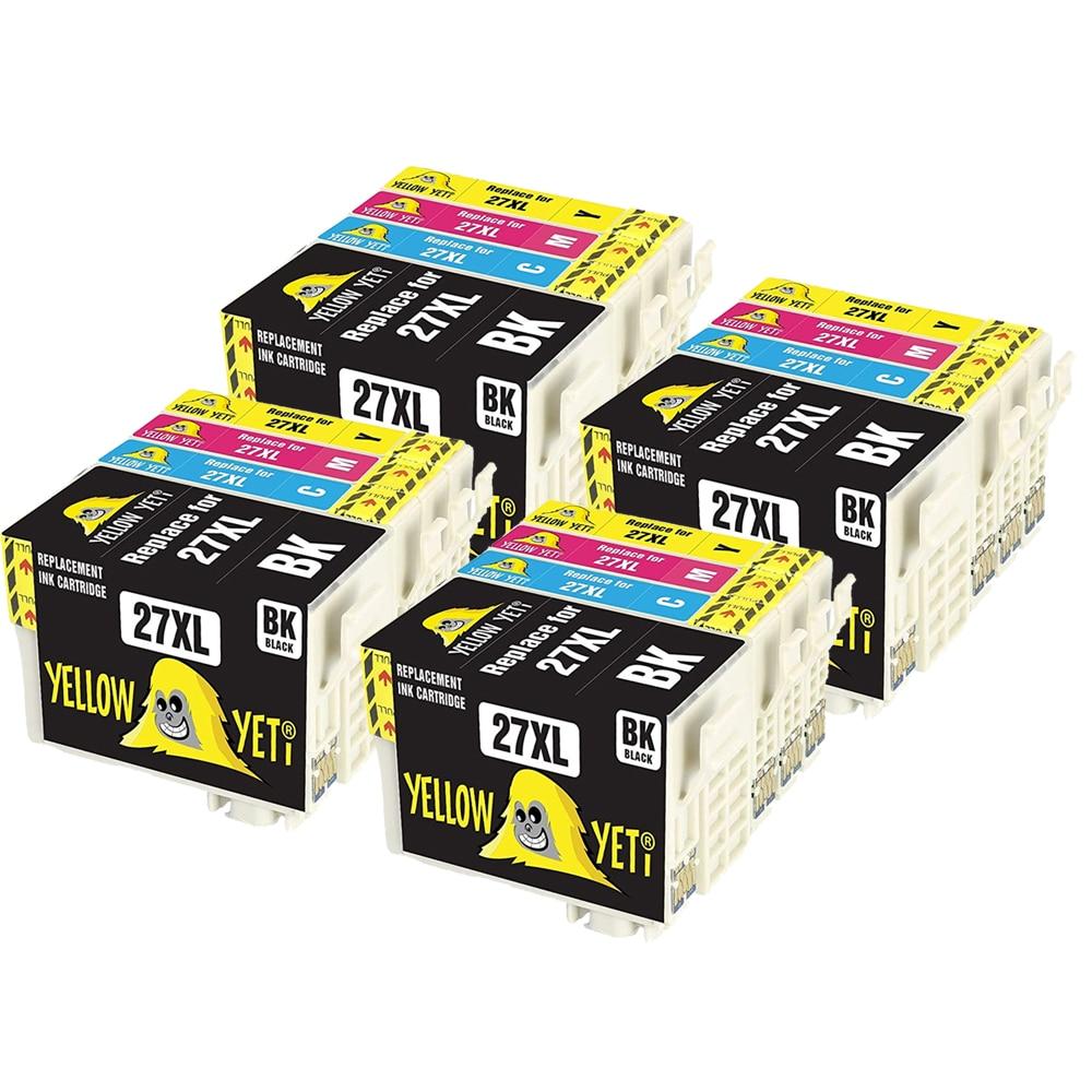 16pcs 27 27XL T2711 Cartucho de Tinta Compatível Para EPSON WF-3620 wf-7720 WF-7210 WF-7715 WF-3640 WF 7110 WF-7620 WF-7710 Impressora