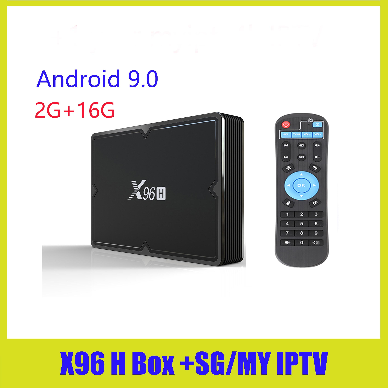 X96H Dispositivo de TV inteligente myiptv X96 mini Android 9,0 4GB 32GB 64GB Allwinner H603 wifi 1080P 4K 2GB 16GB Set Top BOX
