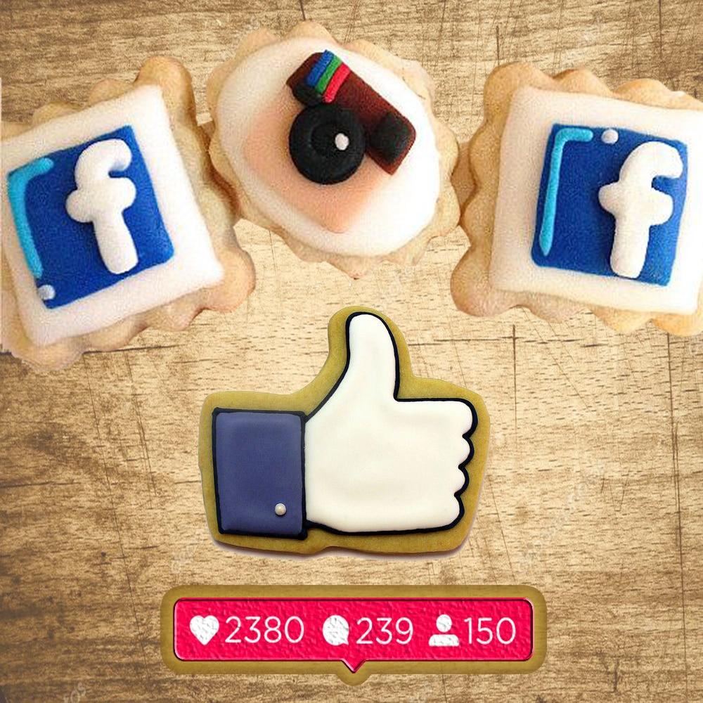 Pieczenie ikona mediów społecznościowych instagroms jak kształt Cookie obserwatorzy wymiary faceboks formy śledź