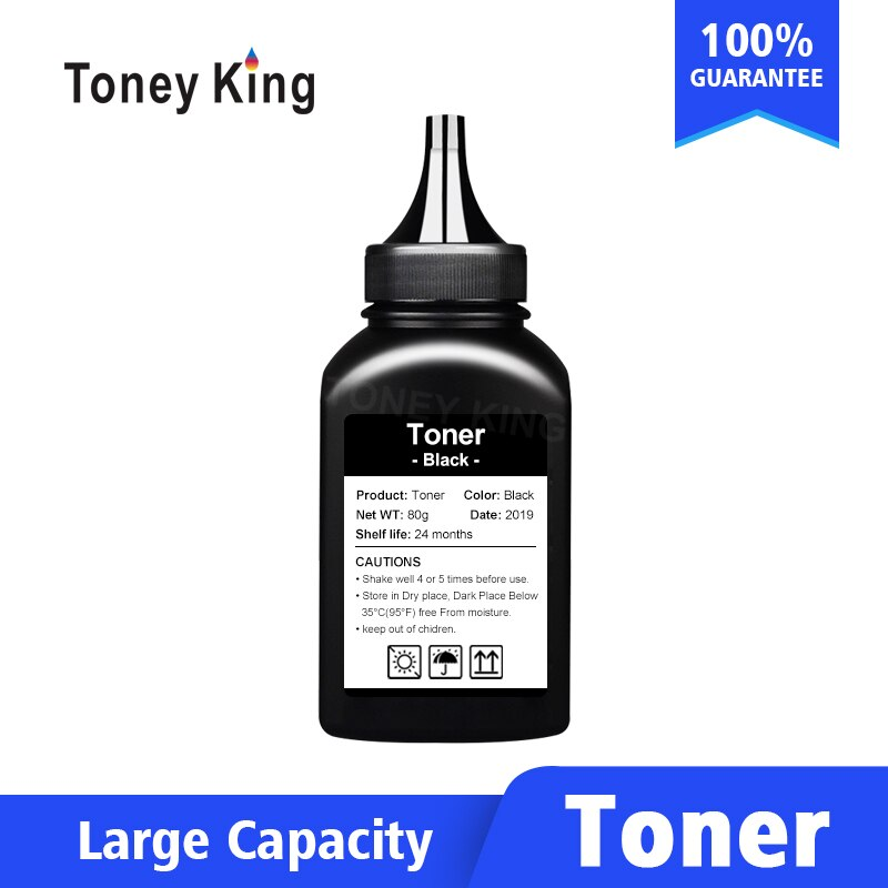 Toney king 80G poudre de Toner noir pour HP CB436A 436A 435A 388A 278A CE285A 285A pour HP LaserJet Pro MFP M125 127fn fw vente chaude