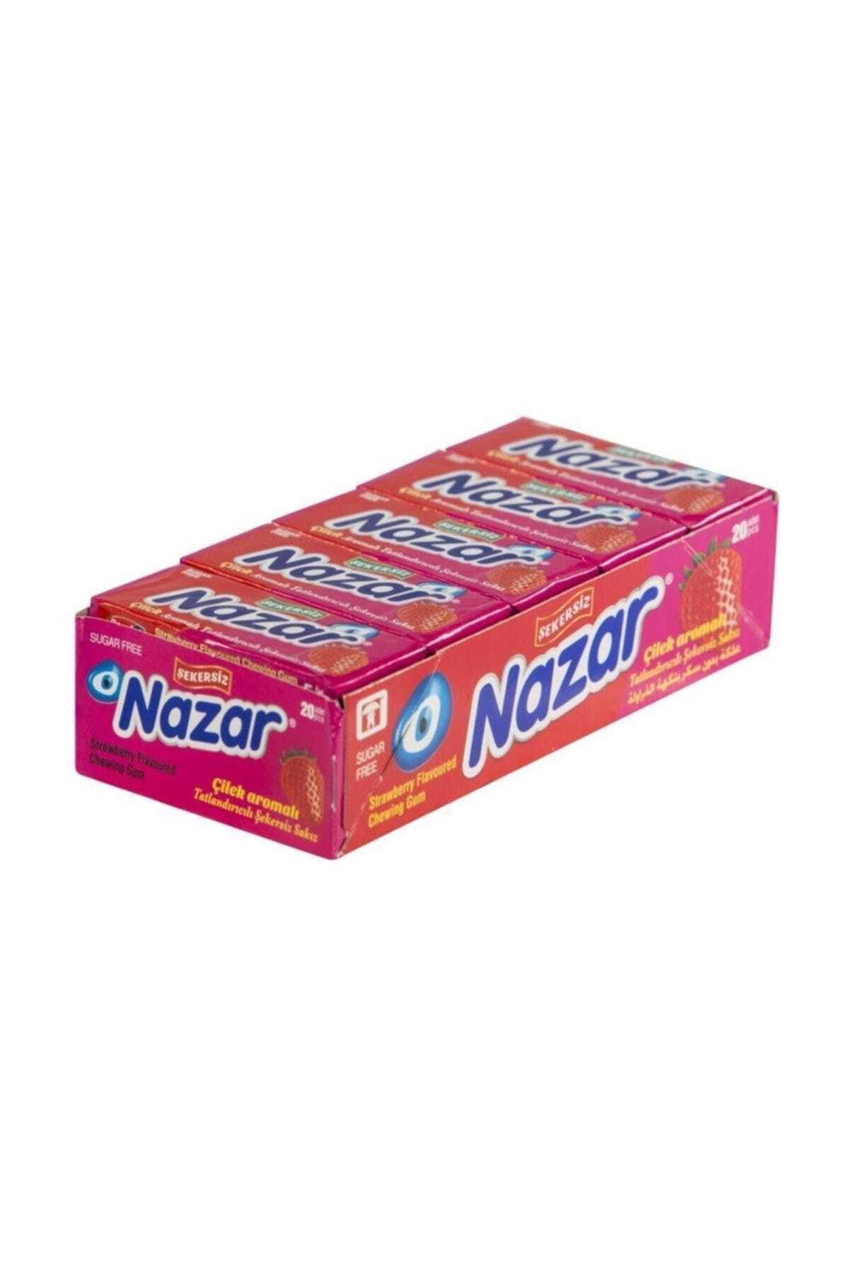 Nazar Gum Stick Strawberry Flavored 5 Pieces (20 Pieces)   FREE SHİPPİNG