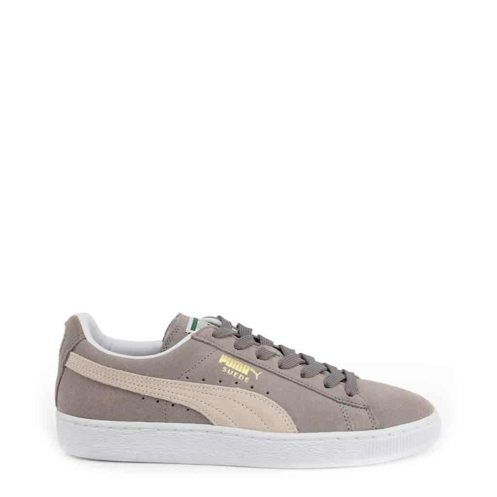 Puma-927315_SuedeClassic-Gray tênis, esportes unissex, marca original, sapatos casuais