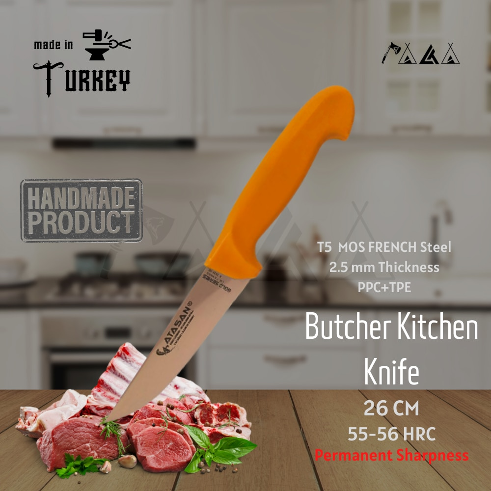 ATASAN سلسلة الذهب جزار سكين المطبخ 00 شريحة لحم اليدوية عالية الجودة المهنية الفولاذ المقاوم للصدأ الطهاة السكاكين 2021