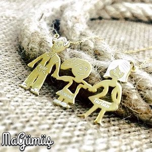 3 Personality Is Silver Family Necklace Wonderful Design